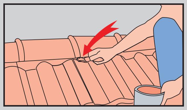 Cách lợp ngói nóc