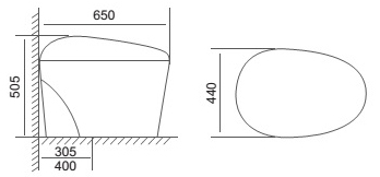 Bản vẽ kỹ thuật bàn cầu thông minh Viglacera V-SMART V95